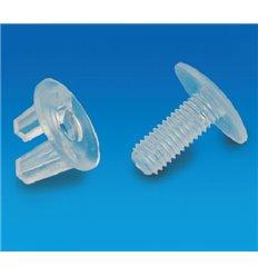 Surub-fluture din plastic pentru interconectare placi carton/plastic