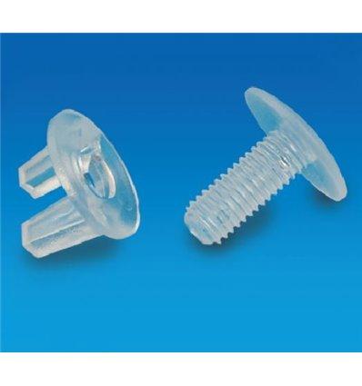 Surub-fluture din plastic lungime 12 mm