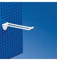 Carlig dublu din plastic pentru panou perforat