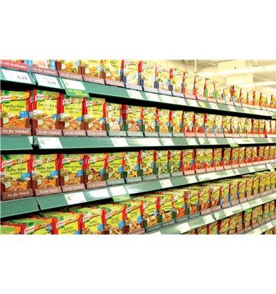Sistem pusher pentru supe instant si condimente