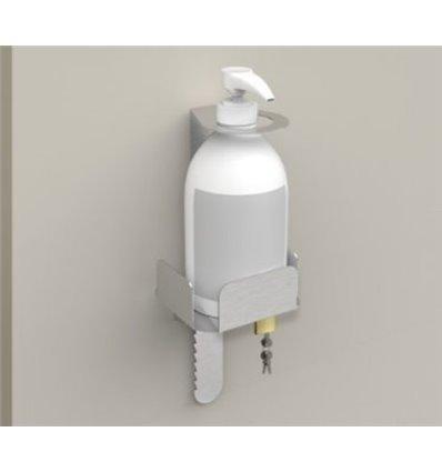 Stativ statie de igienizare inox de perete pentru dozatoare manuale de dezinfectant