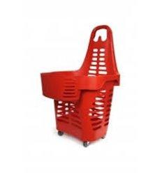 Cos cumparaturi tip Roller din plastic 55 litri + extra compartiment 5 litri