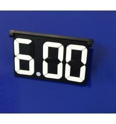 Display pret cu 3 digiti alb-negru