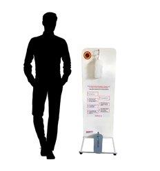 Statie de igienizare operată cu piciorul pentru dezinfectant