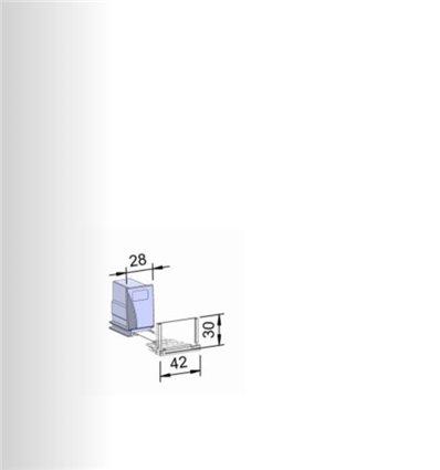 Pusher B28x45, 10N, cu front 42x30 mm