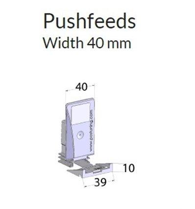 Pusher B40x75, 6N, cu front 39x10 mm