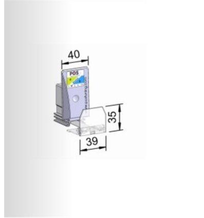 Pusher B40x75, 2/4N, cu front 39x15 mm
