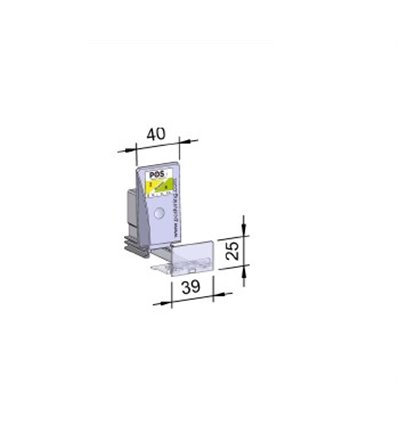 Pusher B40x75, 4/8N, cu front 39x25 mm