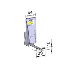 Pusher B44x110, SloMo1N, cu front 39x10 mm
