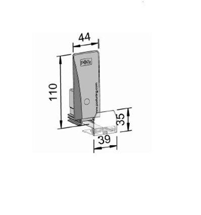 Pusher B44x110, 4/8N, cu front 39x35 mm