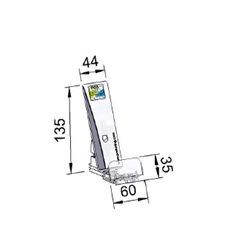 Pusher B44x135, 4/8N, cu front 60x35 mm