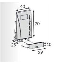 Pusher B40x70, 2N, cu front 39x15 mm