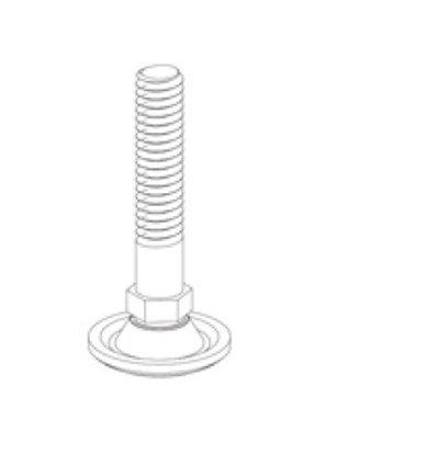 Surub piciorus reglabil M10x50, zinc
