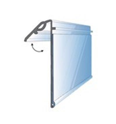 Regleta tip shelf talker rabatabil 40 mm