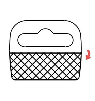 Agatatoare medii, foldable, PVC, pentru carlige Euroslot
