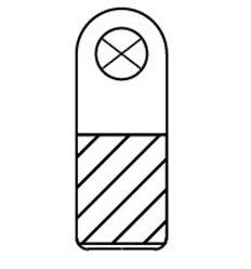 Agatatoare PVC cu perforatie rotunda, rigide