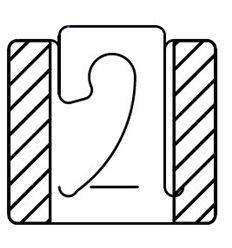 Agatatoare PVC pentru carlige simple