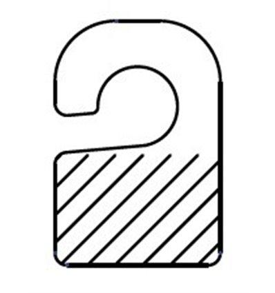 Agatatoare PVC pentru carlige simple, rigide