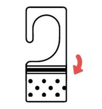 Agatatoare PVC pentru carlige simple, foldable