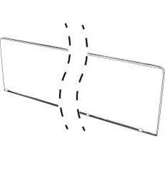 Opritor transparent pentru profil C60/C90