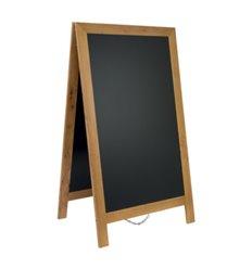People stopper premium cu rama lemn si tabla neagra, 87x58 cm