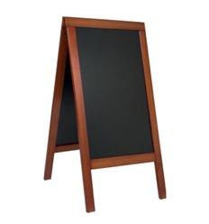 People stopper premium cu rama lemn si tabla neagra, 100x58 cm