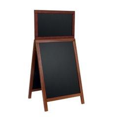 People stopper premium cu rama lemn si tabla neagra cu header, 67x47 cm