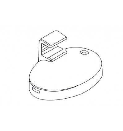 Magnet oval cu fixare laterala